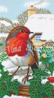 Crystal Art Kit Robin Friends CAK-A114T 40×22cm Full