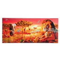 Crystal Art Safari sunset landscape op houten frame (40x90 cm) (partial)
