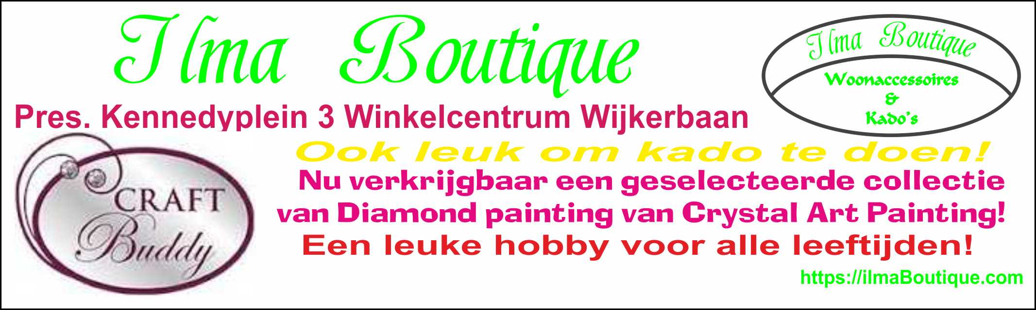 Diamond painting van Crystal Art Painting!, Verkrijbaar via